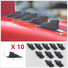 Universal 10Pcs Car Trunk Spoiler Roof Wing Air Diffuser Shark Fin Moulding Set