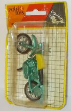 Polfi Toys Metallic Motorcycles - Motorcycle, Green/Yellow, In Pack.(Vintage)