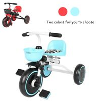 Kids Tricycle Bike Toddler Outdoor Velocipede Folding Ride On Kick Trike Bicycle