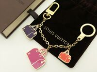 Louis Vuitton Authentic Metal chain iconic Key Chain Bag Charm Auth LV