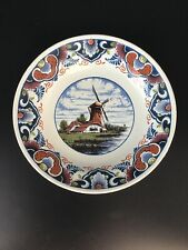 More details for vintage delft polychrome dish windmill 417m oud