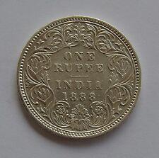 1888 British India Silver 1 Rupee Coin - Victoria Empress -  RARE Date