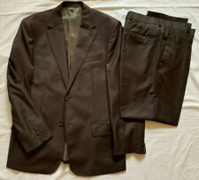 Austin Reed Mens Super 120's Pure Wool Brown Suit 40R Jkt 32S Trousers