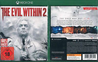 XBox One: THE EVIL WITHIN 2 --- 100% Uncut --- FSK 18 ---