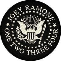 "RAMONES / JOEY RAMONE AUFNÄHER / PATCH # 8 ""ONE TWO THREE FOUR"""
