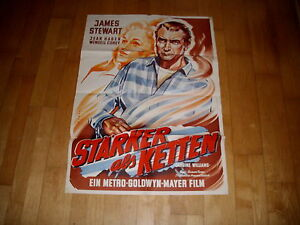 Kinoplakat:  stärker als Ketten  JAMES STEWART      2