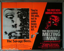 Cinema Poster: SAVAGE BEES, THE/INCREDIBLE MELTING MAN, THE 1977 (Quad)