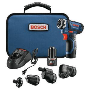 Bosch 12V Max 5-In-1 Drill Driver Sys GSR12V-140FCB22-RT Certified Refurbished