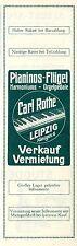 Carl Rothe Leipzig Pianinos Flügel Harmoniums Orgelpedale Histor. Annonce 1914
