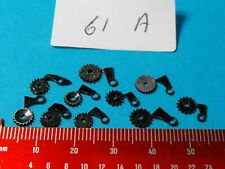 Verge Fusee Pocket Watch RATCHET WHEELS AND CLICKS GENUINE PARTS X10 OF EACH 61A
