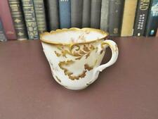 Victorian c 1890 China Cup With Gilt & Strawberry Decoration