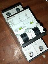SIEMENS C25 5SY6225-7 MCB 2 polos circuito de protección 400 V 25 A Free UK Post