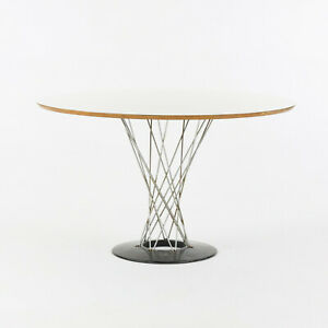 """1960s Isamu Noguchi for Knoll Associates Cyclone Dining Table White Laminate 48"""""""