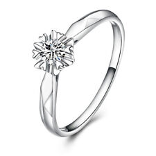 0.33ct Flawless Moissanite Round 4.5mm Sterling Silver Engagement Wedding Ring
