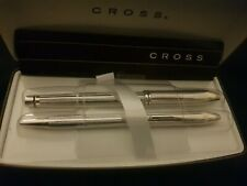 Boxed Cross Townsend Platinum Plated Rolling Ball Pen & Stylo Roller