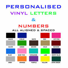 Vinyl letters & Numbers Personalised Shop Sign, Logo, Boat SSR Van Stickers