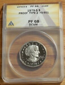 1979 S Type II or 2 PROOF-SBA Susan B Anthony Dollar