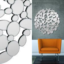 Spiegel Bubble 110x110 cm Designspiegel mit Facette Wandspiegel Dekospiegel