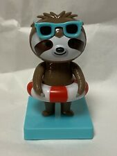 New 2021 Solar Powered Dancing Toy Bobblehead - Summer - Bathing Beauty Sloth