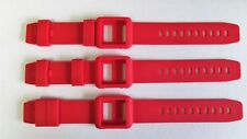 3x Red Silicone Watch Band Wrist Strap Skin Cover Apple iPod Nano 6 generat. lot