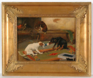 """William Henry Hamilton Trood (1860-1899)-? """"Unsharable thing"""", oil painting"""