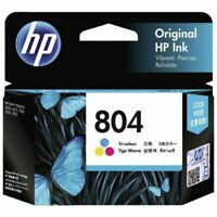 1x Genuine HP804 Colour Ink Cartrige T6N09AA for Envy Photo 6222,7120.7822,Tango