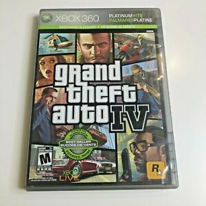 Grand Theft Auto IV - Platinum Hits (Xbox 360, 2008) CIB, Complete, VG