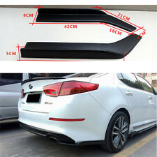 2PCS Universal Car Bumper Spoiler Rear Lip Wrap Angle Splitters Canard ABS Black