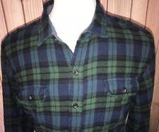 WOOLRICH Mens Cotton Flannel Shirt Sz XXL Blackwatch Plaid Chest Pockets
