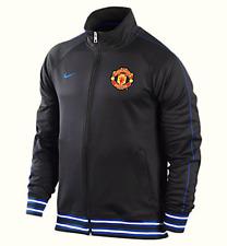 Nike Herren Sweater Sweat Tracktop Gr.S Manchester United Schwarz 90556