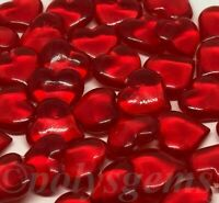 RED ACRYLIC HEART WEDDING TABLE DECORATIONS CONFETTI SCATTER VASE FILLERS