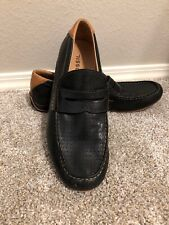 Fossil Men's Shoes Slip On Leather Loafers Black/Tan