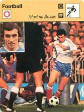 FICHE CARD: Maxime Bossis France Defender Full Back Défenseur  FOOTBALL 1970s