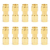 10PCS SMA Male To SMA Male Plug RF Connector Adapter Coupler Straight Type