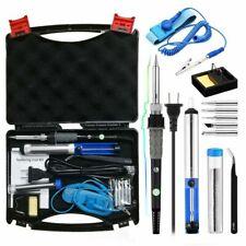 Soldering Iron Kit Tool Adjustable Temperature Desoldering Pump 60W 110V