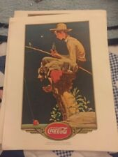 4 Norman Rockwell Lithographs Prints By The Coca Cola Companies