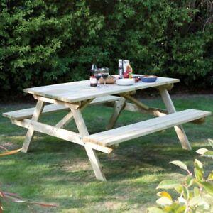 6ft Picnic Table Garden Pub Bench Pressure Treated 180CM 1.8M