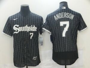 Men's Chicago White Sox #7 Tim Anderson Southside 2021 Player Jersey