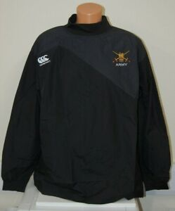CLEARANCE: British Army embroidered Canterbury Rugby Training Top - 3XL Black
