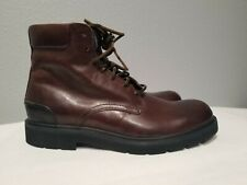FRYE Men's Terra Lace Up Leather Fashion Boots Dark Brown Size 9 Ankle NEW NWOB