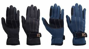 1 Pair Lined Gloves For Narrow Finger Touch Fastener, Size 7-9
