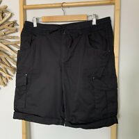 Now Size 12 M Black Cotton Cargo Shorts Women's New Without Tags NWOT Kmart