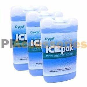3x Cryopak Ice Pak Freezer Gel Reusable Cooler Ice Pack Lunch Box Food Storage