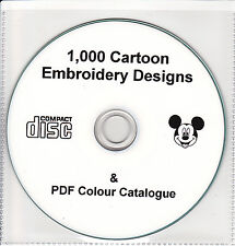 Machine embroidery designs personnages de dessins animés disney brother janome singer cd