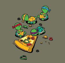 Pizza Lover TV Show Cartoon Movie Parody Turtles Eating Vinyl Sticker Window Car