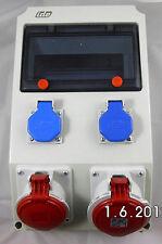 Wandverteiler Stromverteiler Baustromverteiler Unterverteilung 2x230 1x16 1x32