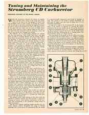 1965 TUNING & MAINTAINING THE STROMBERG CD CARBURETOR ~ ORIGINAL 4-PAGE ARTICLE