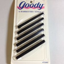 "Goody Stay Tight BLACK 3"" clasp barrettes package of 6 NEW StayTight"