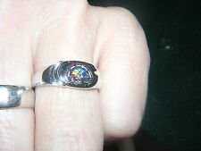 RAINBOW GIRLS BFCL Sterling SILVER Ring Masonic 3,4,5 vintage B-F-C-L vintage !!
