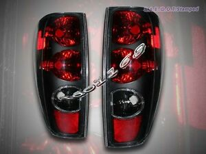 04-10 CHEVY COLORADO / GMC CANYON TAIL LIGHTS BLACK STYLE PAIR NEW